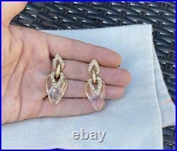 100% Authentic Alexis Bittar Clear Lucite Swarovski Crystal Earrings