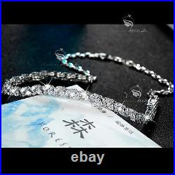 18k white gold gf made with SWAROVSKI crystal stud earrings necklace party set