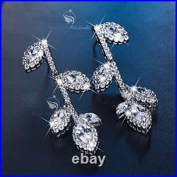 18k white gold gp made with SWAROVSKI crystal earrings necklace flower tree set