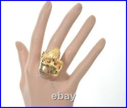 ALEXANDER McQUEEN LARGE GHOST SKULL SWAROVSKY CRYSTALS RING PERFECT GIFT