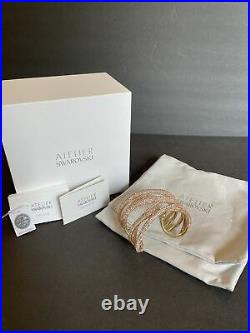 Atelier Swarovski 5535901 Tigris Cuff, Large, Pink, Gold-toned plated M