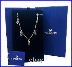 Authentic SWAROVSKI Rose Gold Naughty Crystals Feather Choker Necklace 5497874
