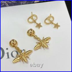 Dior Star Bee Earrings with Swarovski Silver Crystal