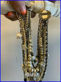 Erickson Beamon Girlie Queen gold-plated Swarovski crystal and faux pearl neck