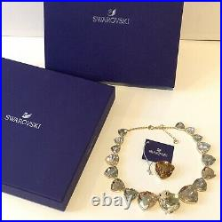Genuine Swarovski Large March Fox Necklace Gold Tone Sparkling Boxed 5421711