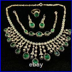 Hurrem Sultan's Ruby / Saphire / Emerald Set With Rhinestones 0938