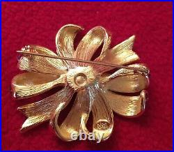 Joan Rivers Gold and Enamel Bow Brooches with Swarovski crystals Set of 3