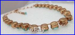 LOVELY MARIANA flowers turquoise ROSE GOLD NECKLACE Colorful Swarovski Crystal