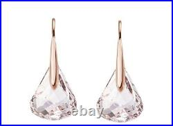 Lunar pierced earrings Pink, Rose-gold tone plated