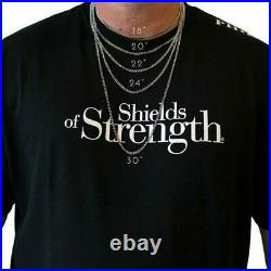 Men Gold Stainless Steel JUMBO Dumbbell Necklace with Swarovski Crystals-Lk 137