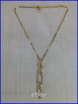 NIB Authentic Swarovski Daphne Gold-Tone Necklace and Earrings (909926, 909928)