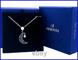 New Authentic SWAROVSKI Rose Gold Crystal Pearl Moon & Stars Pendant Necklace