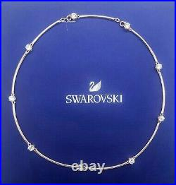 New Authentic SWAROVSKI Rose Gold White Crystals Constella necklace 5609710