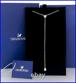 New SWAROVSKI Rose Gold Sparkle Crystal Attract Soul Y Pendant Necklace 5539007