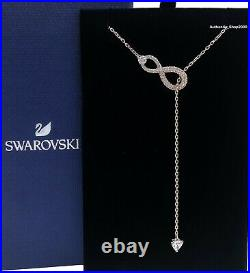 New SWAROVSKI Rose Gold Sparkle Crystals Infinity Y Pendant Necklace 5521346
