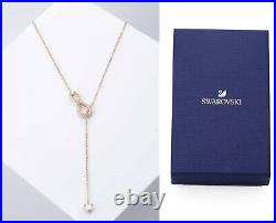 New in Gift Box SWAROVSKI 5521346 Rose Gold Sparkle Pave Infinity Y Necklace