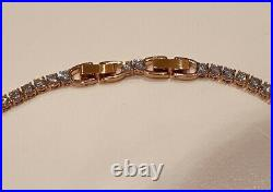 SWAROVSKI Crystal Rose Gold Plated Tennis Deluxe White Crystal Necklace 5494607