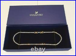 SWAROVSKI Crystal Yellow Gold Plated Tennis Deluxe Necklace 5511545