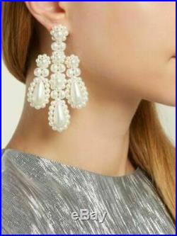 Signed SIMONE ROCHA Statement Drop Stud Earrings made with Swarovski Pearls