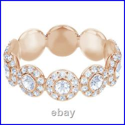 Swarovski 5424994 Angelic Ring Band, White, Rose Gold Plated, Size 55, RRP$179