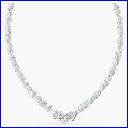 Swarovski 5556917 NEW TENNIS DELUXE MIXED V NECKLACE, WHITE, RHODIUM P RRP $399