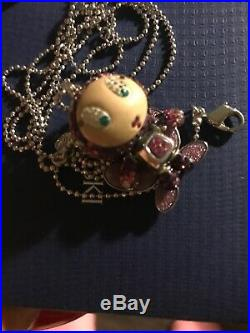 Swarovski Erika Butterfly Women's Necklace Multi-Colored, Mixed Metals Rare