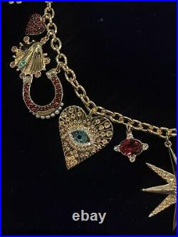 Swarovski Lucky Goddess Charms Necklace, Multi-colored, Gold-tone Plated Box