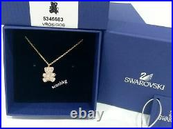 Swarovski Teddy 3D Pendant, Pink, Gold Plated Pink Crystal Authentic MIB 5345683