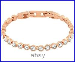 Touchstone Crystal By Swarovski Rose Gold Silk Ice Bracelet NEW Perfect for Mom