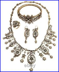 Turkish Jewelry Handmade Ottoman Style Hurrem Sultan's Necklace Set With Rhinest