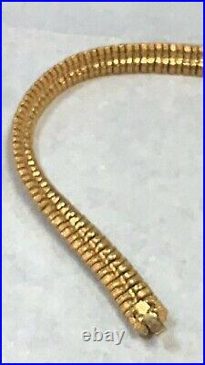 Vintage Signed CINER Collar Choker Necklace Gold tone/ Gold Plated Fabulous